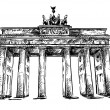 Brandenburg Gate. Vector sketch. — Stock Vector