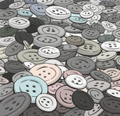 Buttons background. Cartoon style. — Stock vektor