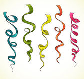 Party serpentine. Ribbons. Celebration. vector — Stock Vector
