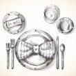 Festive table setting — Stock Vector #37588997