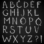Hand drawn alphabet, doodle font, vector — Stock Vector