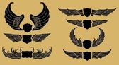 Tribal wings schild — Stockvector