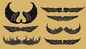 Tattoo tribal wings — Stockvector