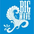 Blue backgrounds tribal wave vector art - Stock Vector
