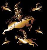 Criação de arte vetorial bem de cavalo — Vetorial Stock