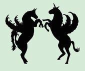 馬の罰金ベクトル アートを育てる — ストックベクタ