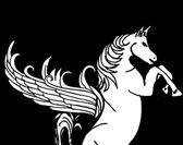 Allevamento di cavalli pregiati vettore d'arte — Vettoriale Stock