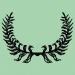 Green background wreath leaf vector art — Stock Vector #24793013