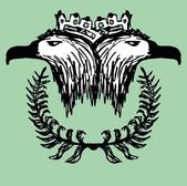 Hand drawing eagle head vector art — Stok Vektör