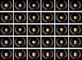černé pozadí zlatý štít vektorové umění — Stock vektor
