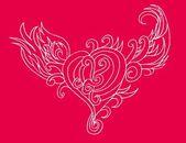 部落纹身手绘图的心矢量艺术 — 图库矢量图片