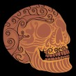 Tattoo tribal mexican skull vector art — Vettoriali Stock