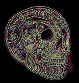 Tattoo tribal mexican skull vector art — Stock Vector