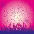 Disco people hand up vector art - Stock Vector