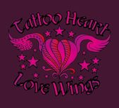 Tatuaż tribal serce wektor sztuki — Wektor stockowy