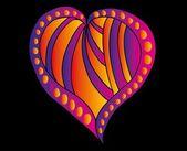Tatuering tribal rött hjärta vektor konst — Stockvektor