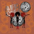 Royalty-Free Stock Vector Image: Afro disco girls vector art