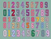 Arte de vector de placa de número del bordado — Vector de stock