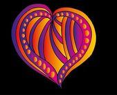 татуировка племенных красные сердца вектор искусства — Cтоковый вектор