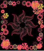 Primavera hibisco flor vector arte — Vector de stock
