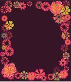 Spring hibiscus flower vector art — Stock Vector