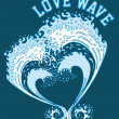 Big and love wave vector art - Stock Vector