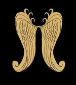 рука рисования крылья вектор искусства — Cтоковый вектор