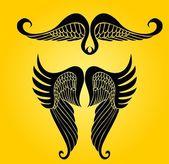 Main ailes dessin vectoriel — Vecteur