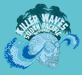 Tribal tattoo skull and wave vector art — Stock Vector