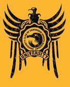 部落纹身鹰徽章矢量艺术 — 图库矢量图片
