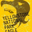 Yellowstone national park eagle spirit vector art — Stock Vector