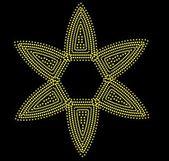 Black background dot star vector art — Stock Vector