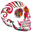 Stock Vector: Tattoo tribal mexican skull vector art