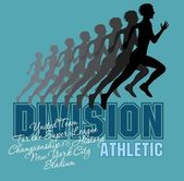 Runner athletic division vector art — Stockvektor