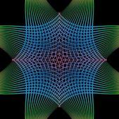Black background mix color line vector art — Stock Vector