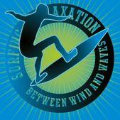 Conception graphique de vecteur surfeur du pacifique — Vecteur