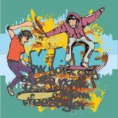 Urban skate spirit vector art — Stock Vector