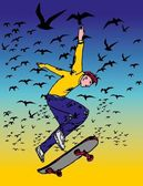Stedelijke skate geest vector kunst — Stockvector