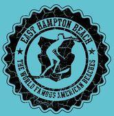 打印的冲浪者徽章矢量艺术 — 图库矢量图片
