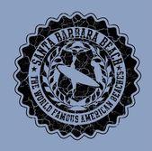 Printing surfer badge vector art — Stock Vector