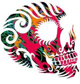Tattoo tribal mexican skull vector art — Stock Vector