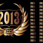Golden year laurel wreath vector art — Stock Vector #31580767