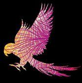 Paradise papegoja vingar vector konst — Stockvektor