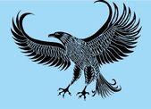 Tattoo tribal vogels vector kunst — Stockvector