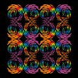 Swirls Colorful element set vector art — Imagen vectorial