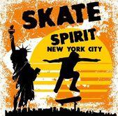 アメリカのスケート公園ベクトル アート — ストックベクタ