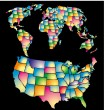 Stockvector : American color map vector art