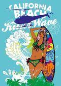 Pacific surfer-vektor-grafik-design — Stockvektor