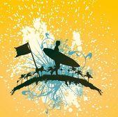 Design gráfico de vetor de surfista do pacífico — Vetor de Stock