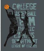 College basketball sports vector art — Stock Vector